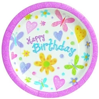 Party Supplies 12 Happy Birthday Paper Plates