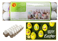 12 Plastic Decorating Eggs