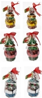 Metallic Holiday bell Coverede Box-  6Pc's