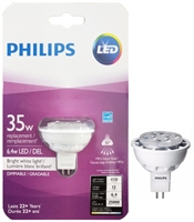 PHILIPS LED Dimmable 6.4W MR16 Bulb