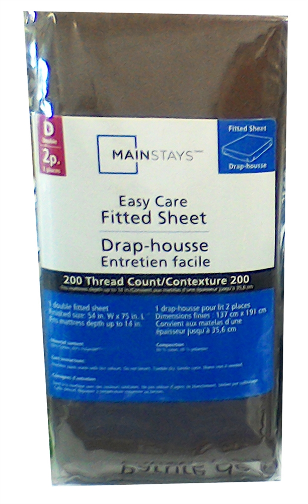 Mainstays Easy Care Fitted Sheet Double