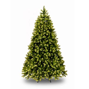 8 ft pre lit artificial christmas tree